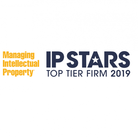 A&S Tier 1 ranking patent prosecution IP Stars 2019!