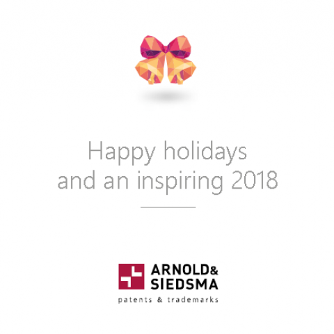 Happy holidays and an inspiring 2018